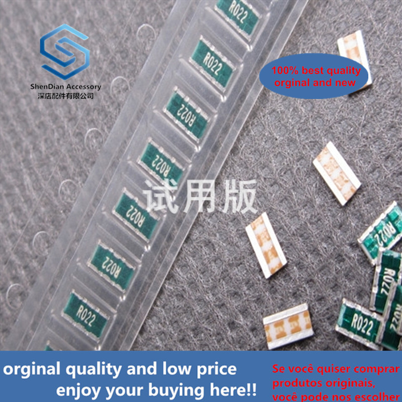 20ppcs 100% Orginal New Side Leg RL3720T-R022-G 3 (3720) 0.022 Ohm Silk Screen R022 Chip Alloy Resistor