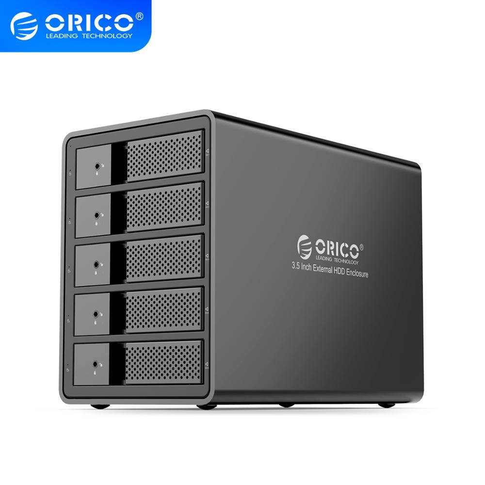 ORICO 95 Series Multi Bay 3.5'' SATA To USB3.0 HDD Docking Station 16TB Single Internal Power HDD Enclosure Aluminum HDD Case