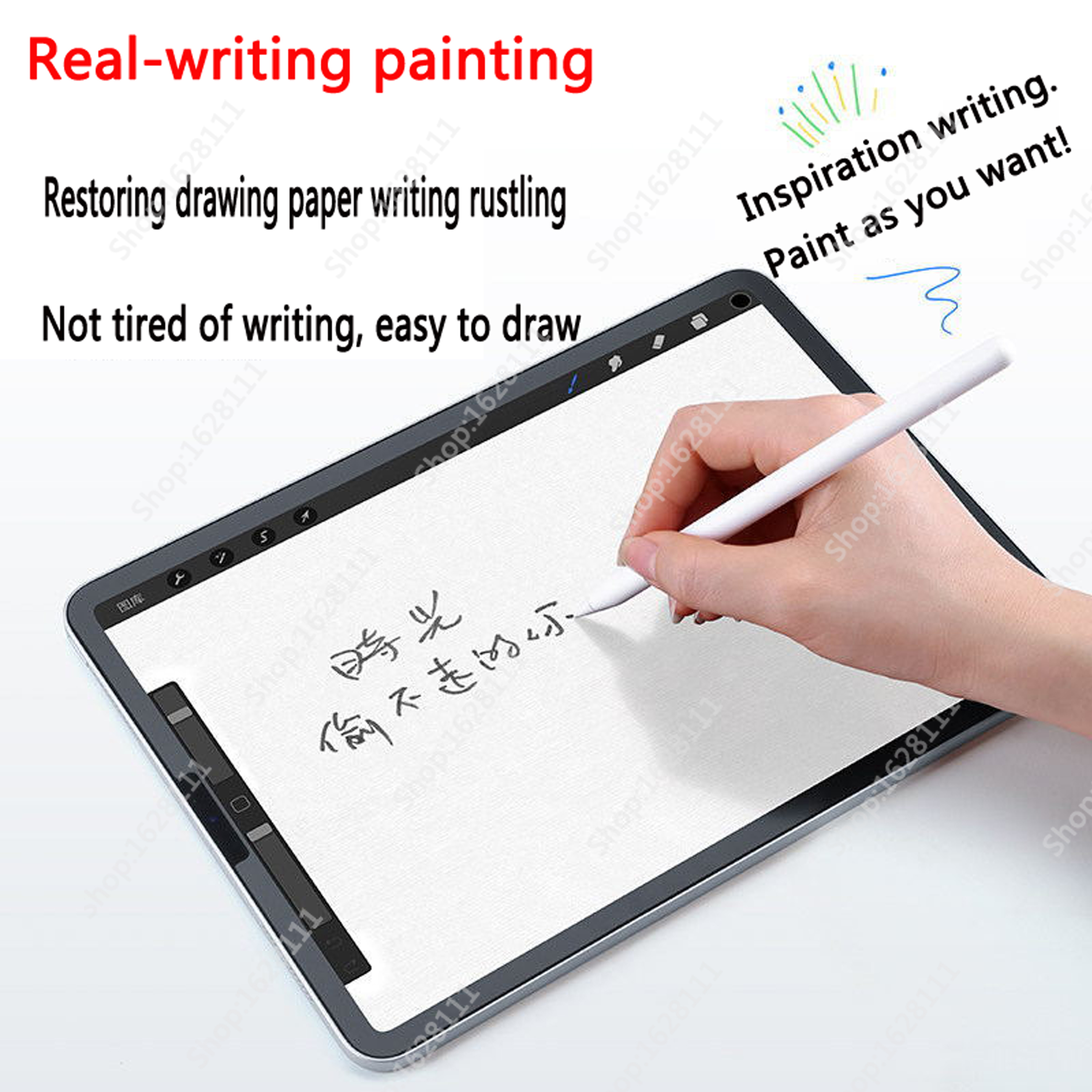 """Paper Like Screen Protector Film Matte PET Painting Write For Huawei Mediapad M6 8.4 10.8 inch Honor V6 10.4 """"2020 4"""