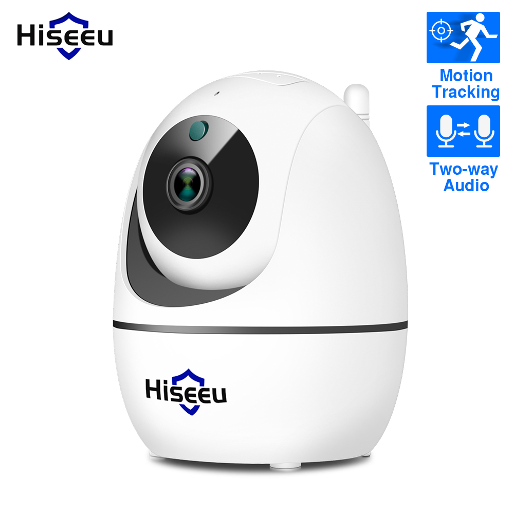 Hiseeu Ip-Camera Auto-Tracking-Sd-Card WIFI Home Security Audio for Wireless Two-Way