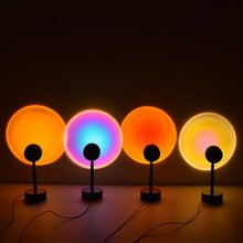 Sunset Projection Night Lights Live Broadcast Background Atmosphere Rainbow Lamp As Galaxy Projector  Decoration светильник