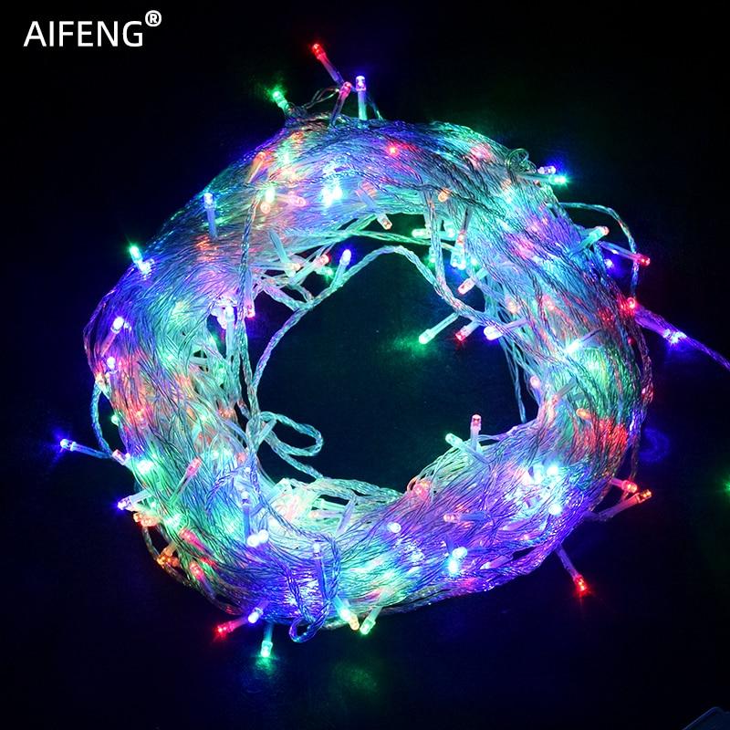AIFENG String Light 5M 10M 20M 30M 50M 100M Christmas Tree Garland Fairy String Lights Chain Xmas Wedding Party Holiday Lighting