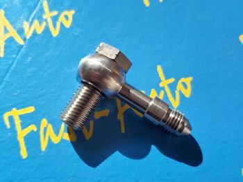 Parafuso de aço inoxidável de banjo m12 p1.25 m12 * 1.25 m12 x 1.25 adaptador para-4an an4 an-4 7/16unf combustível mangueira de óleo encaixe final
