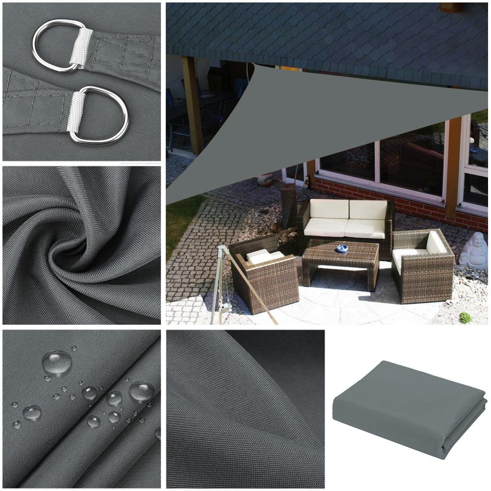 NEW Waterproof Sun Shade Sail Garden Patio Awning Canopy 98/% UV Block W// Ropes