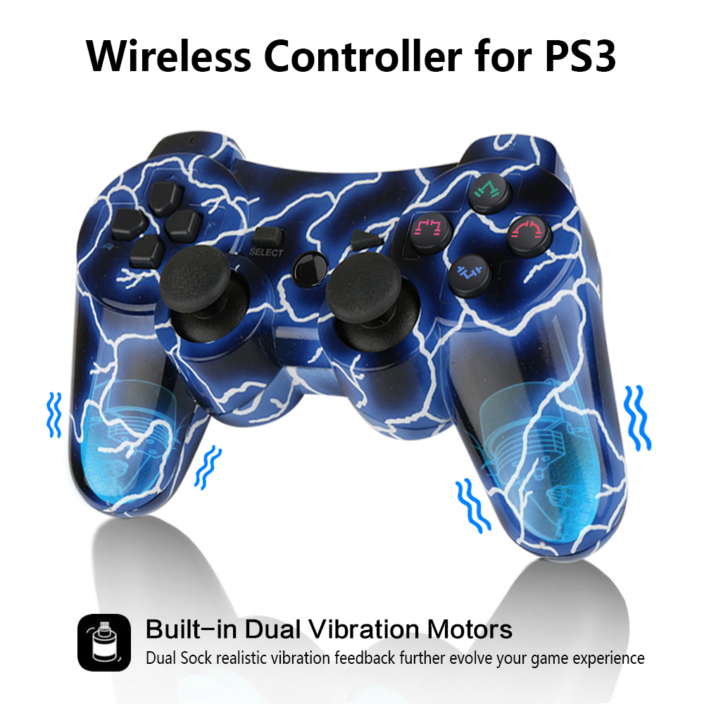 K ISHAKO Bluetooth Wireless Joystick Pad Game Console Controller For Playstation PS3  Universal Gamer Home Gaming  Device