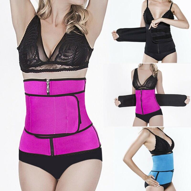 Womens Corset Waist Trainer Shaper Body Shapewear Underbust Cincher Tummy Belt