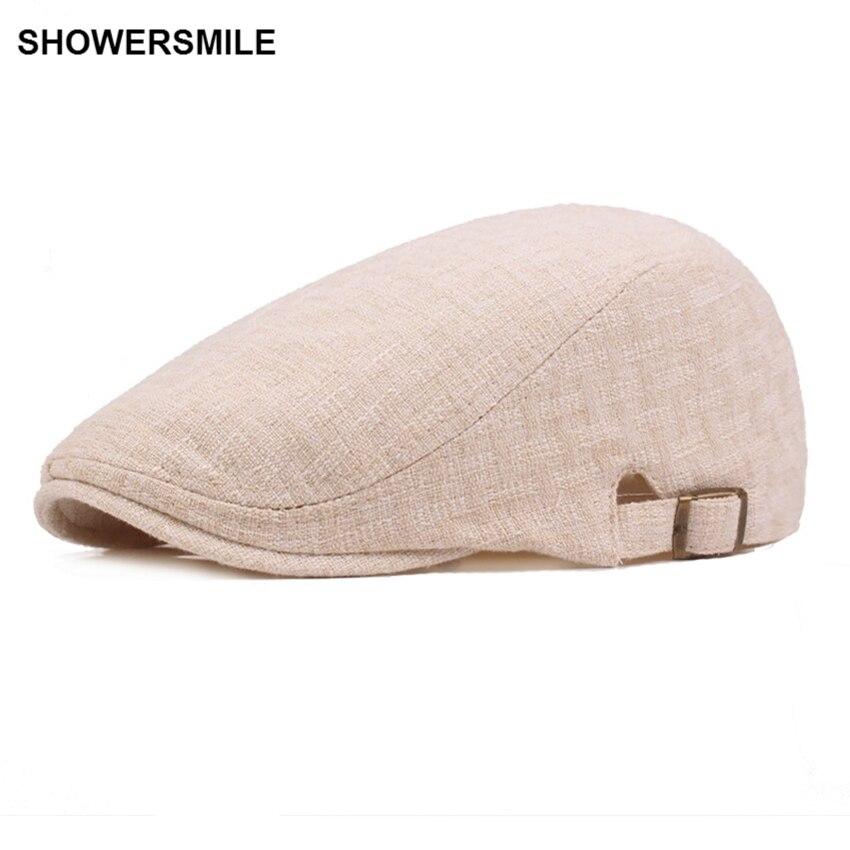 Купить мужская и женская льняная кепка shouresmile темно синяя повседневная