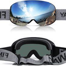 findway Ski Goggles Magnetic Quick Interchangeable Lenses Frameless Dual-Layer Lens Anti-Fog OTG Snowboard glasses for Men Women