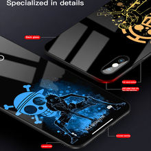 One Piece Luffy Tempered Glass Phone Case For iPhone