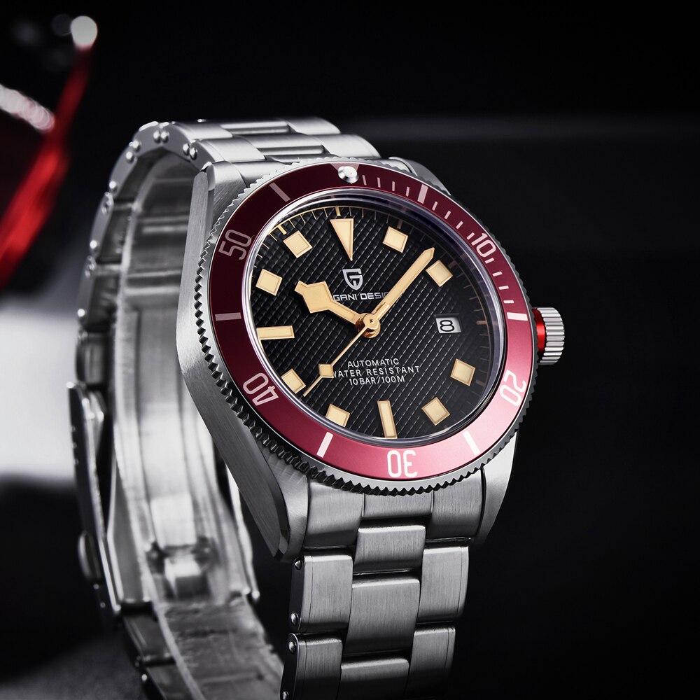 2021 New PAGANI DESIGN BB58 Men's Watches Mechanical Watch For Men Luxury Automatic Watch Men NH35/8215 Waterproof Reloj Hombre 6
