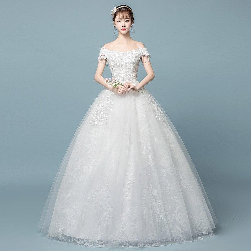 Cheap Illusion Vestido De Noiva V-Neck Ball Gown Princess Wedding Dress Appliques Luxury Bride Dress Sexy Back Robe De Mariee