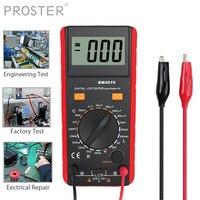 Proster para bm4070 lcr medidor capacitância indutância resistência auto-descarga lcd multímetro digital tensão tester multimetro