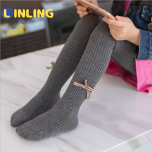 Soft Clothing Pantyhose Tights Baby-Girl Spring/autumn Cotton LINLING Solid Princess-Style