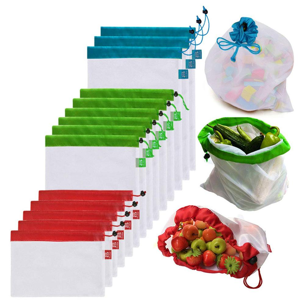 High Quality Reusable Environmentally Friendly Mesh Bag For Grocery Shopping And Storage Of Vegetables And Garden Products