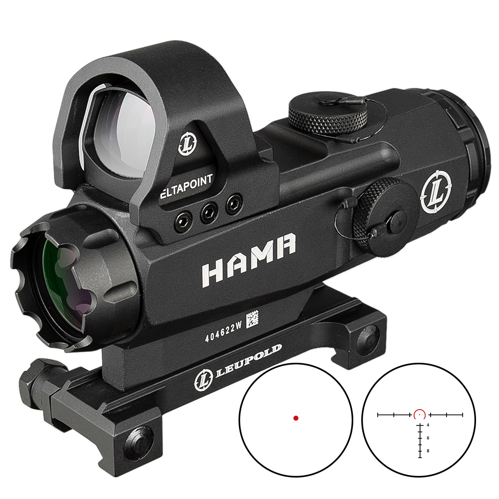 Tactical 4x24 HAMR Rifle Scope Lens Red Dot Mark 4 High Accuracy Multi-Range Riflescope PP1-0403