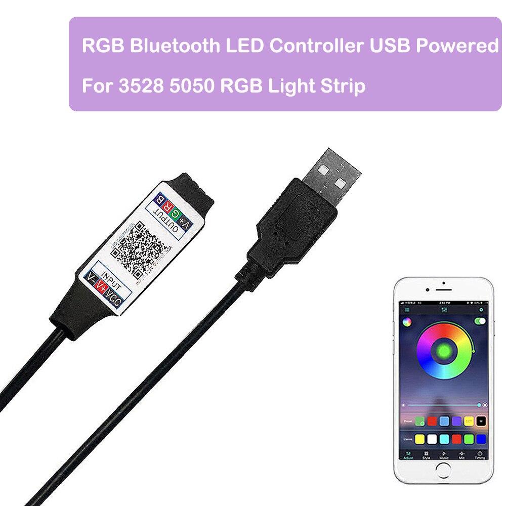 Smart Rgb Bluetooth Led Controller Usb Aangedreven Voor 3528 5050 Rgb Light Strip Multicolor Veranderende Dc 5V Met Timer suitabl