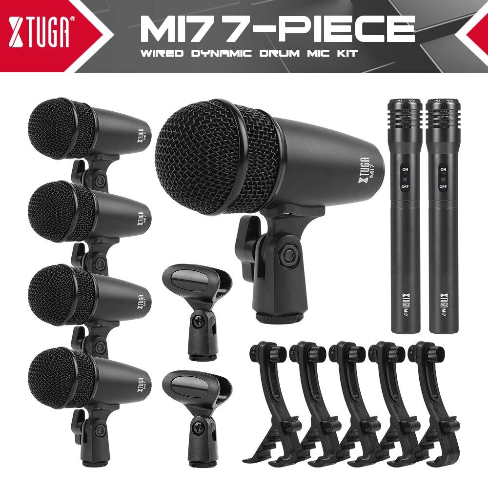 Набор микрофонов XTUGA MI7P с проводным динамическим барабаном (полностью металлический), 7 шт.