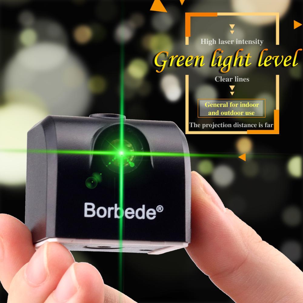 Лазерный нивелир мини двухлинейный зеленый светильник Высокая Точность легко носить с собой горизонтальный и вертикальный лазерный крест