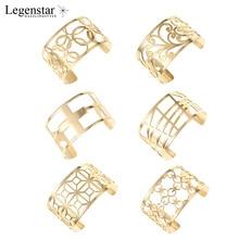 Legenstar Gros Interchangeable Cuff Bracelet Manchette Femme Argent Gold Stainless Steel Bracelets Bangles For Women Jewelry все цены