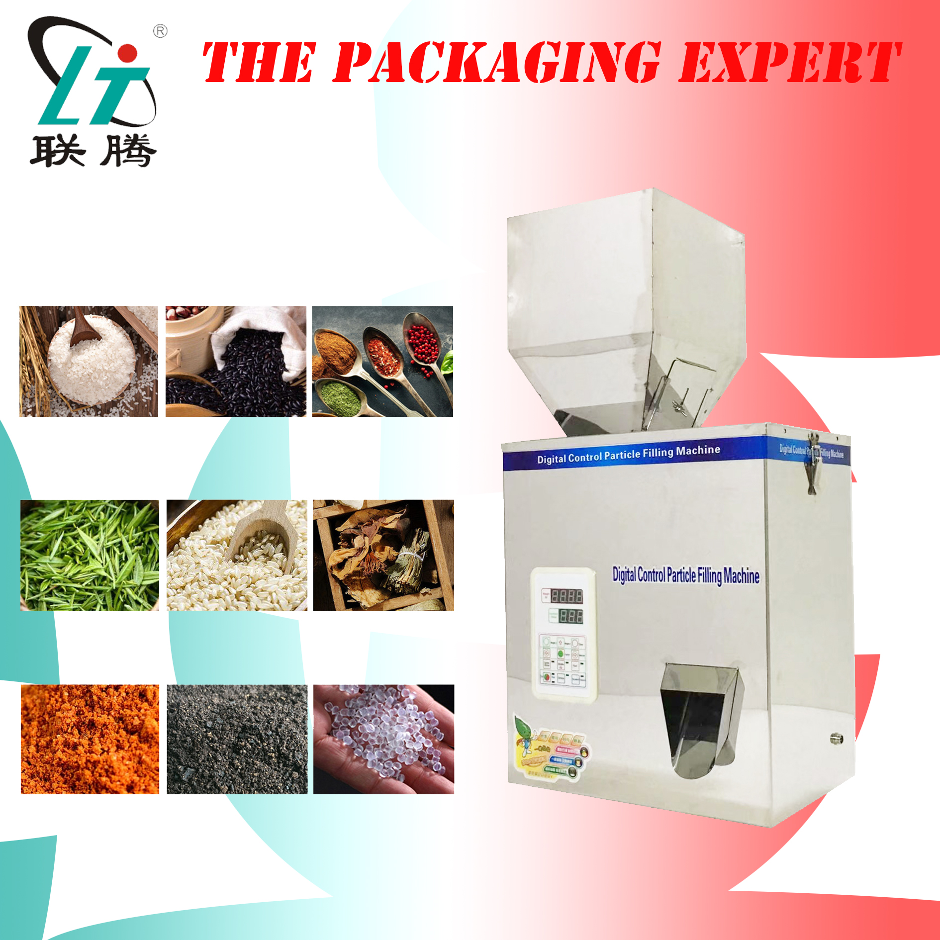 Scale Herb Capsules Filling And Weighing Machine Tea Leaf Packing Machine Particle Powder Filler Racking Machine Free Shipping