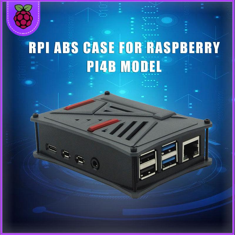 Raspberry Pi ABS Case Plastic Cover Shell Single Dual Cooling Fan Gray Silver For Raspberry Pi 4 B Model Raspberri Pi Cases