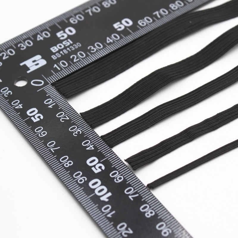 3/6/8/10/12mm banda elástica blanca/negra de alta costura, banda de goma plana, Banda de la cintura, cinta elástica, cinta elástica 5z