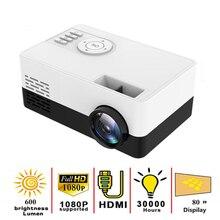 Lejiada new j16 led mini projector 320x240 pixels supports 1080p hdmi-compatible usb portable audio home media player video