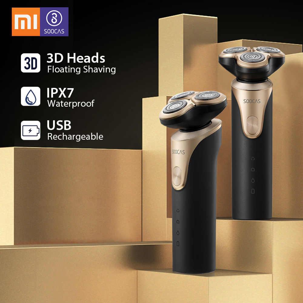 לxiaomi חשמלי תער Mijia SOOCAS S3 חשמלי מכונת גילוח יבש רטוב גילוח מכונות עמיד למים גילוח גוזם זקן לגברים mens