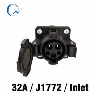32A розетка SAE J1772 AC Вход AC электрическая вилка без кабеля для EV/электрический автомобиль Duosida в наличии