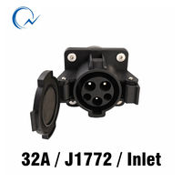 32A socket SAE J1772 AC Inlet AC Electric Plug without Cable for EV/Electric Car Duosida in stock|Accessories|   -