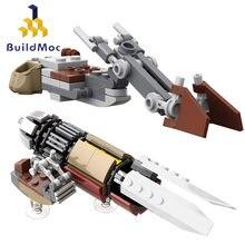 Buildmoc Star Movie figurki marshalla Swoop Bike Mandalores Speeder Bike techniczne klocki motocyklowe prezent