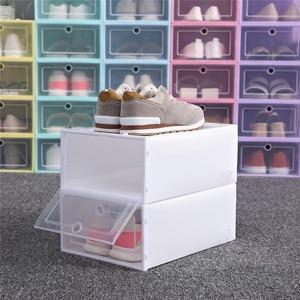 1PC Foldable Clear Shoes Box Storage Shoe Box Drawer Organizer Household DIY Shoe Box Drawer Divider Home Storage Stacking @C