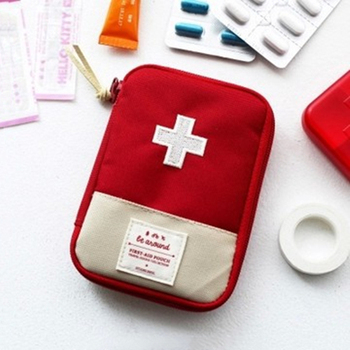 Outdoor First Aid Emergency Medical Bag Medicine Drug Pill Box Home Car Camping Survival Kit Emerge Case Small 600D Oxford Pouch image
