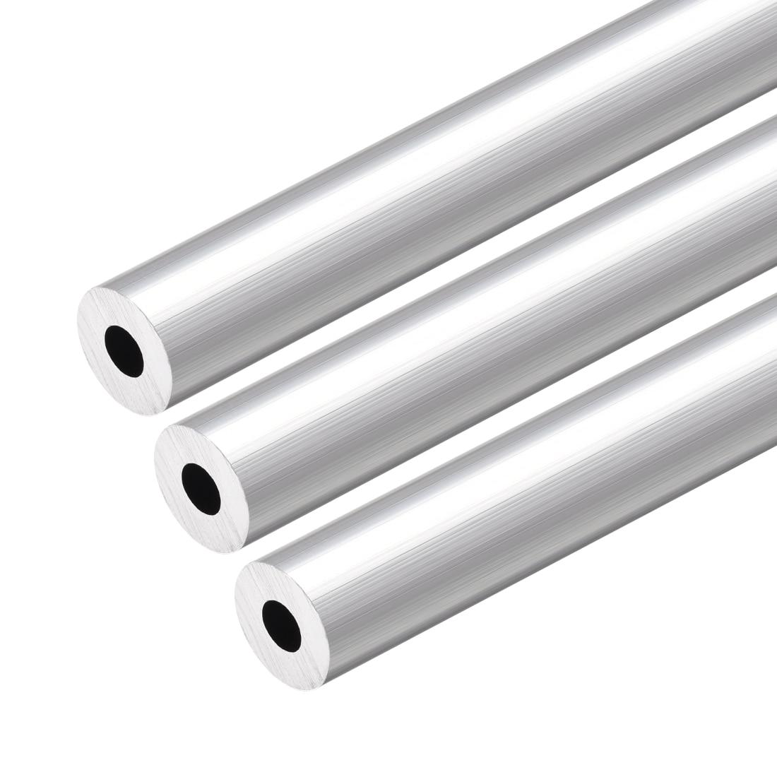 Uxcell 6063 Aluminum Round Tube 300mm Length 12mm OD 5mm Inner Dia Seamless Aluminum Straight Tubing 3 Pcs