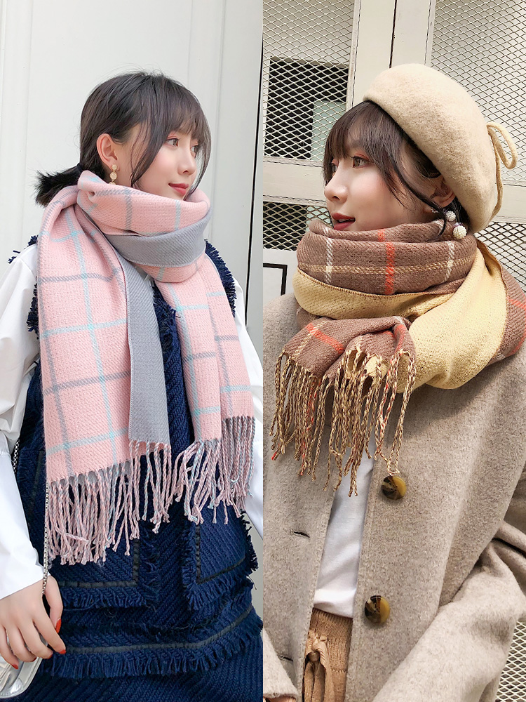 Soft Girl Scarf Female Autumn Winter Korean Student Sweet Lovely Shawl Japanese Department Versatile Long Dual Purpose Warm Neck