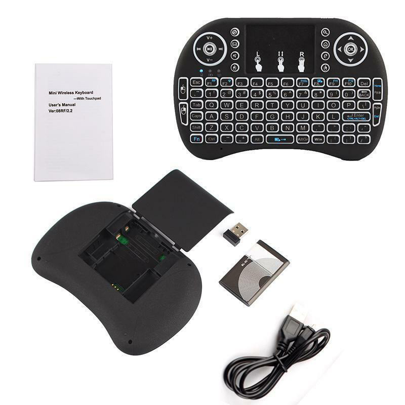 Small Size Wireless Keyboard LED Backlight Touchpad Rechargeable For Smart TV Set-top Box With Touchpad