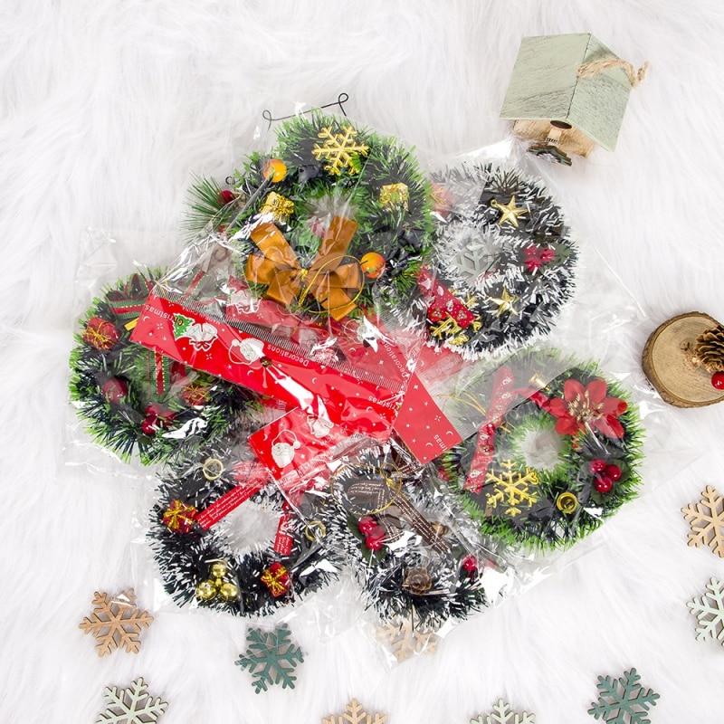 12cm Creative Christmas PVC Mini Wreath Christmas Red Fruit Gift Wrap Hanging Pendant Vianocne Dekoracie Decoracion Hogar