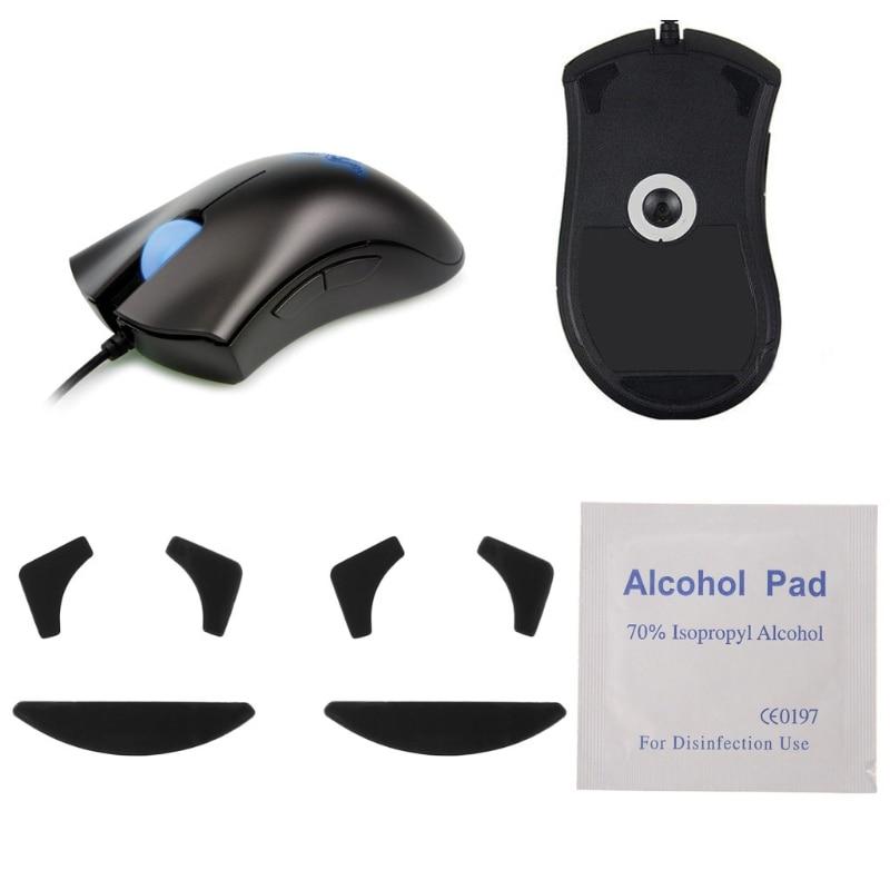 2 Sets 0.6mm Mouse Feet Skates Mouse Pads For Razer DeathAdder Mouse Skates J6PB