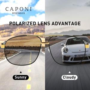 Image 2 - CAPONI 2020 Mens Sunglasses Driving Polarized Eye Glasses Brand Vintage Square Anti Ray UV Protect Sun Glasses For Men CP0960