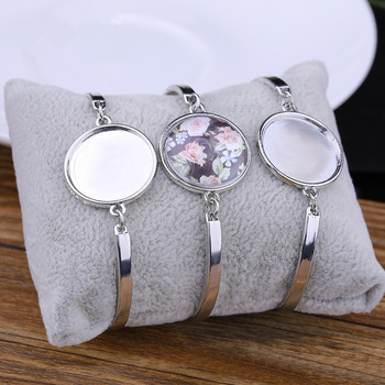 5pcs/lot Metal Cabochon Bracelet Fit 20mm Cameo Settings Bracelets Bezel Blanks Diy Jewelry Making Findings Accessory - discount item  30% OFF Jewelry Making