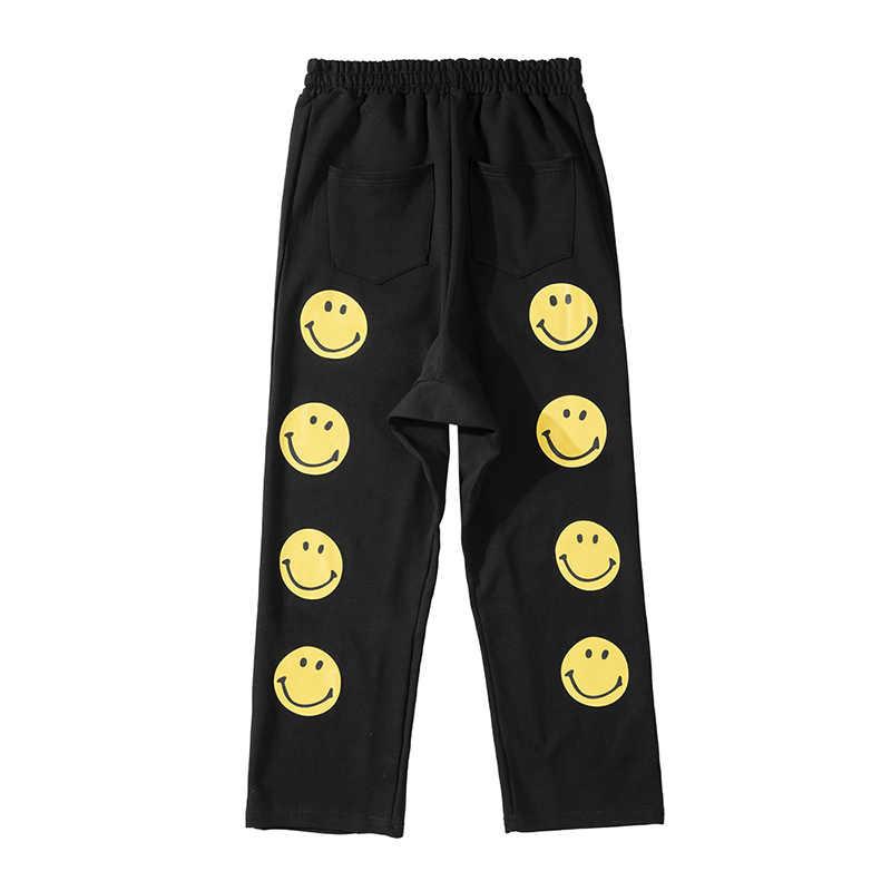 Smiley Baggy Track Broek Mens Streetwear Trekkoord Losse Zweet Broek Oversize Harajuku Casual Hip Hop Broek Mannen Joggingbroek