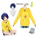 Костюм для косплея из аниме «чудо-яйцо», желтый пуловер с капюшоном и шорты, повседневный костюм для Хэллоуина в стиле унисекс