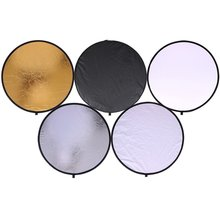 60x90cm 24x35 5 in 1 multi reflector photography studio photo oval collapsible light reflector handhold portable photo disc 60cm Portable Collapsible Round Camera Lighting equipment Photo Disc Reflector Diffuser Kit Carrying Case Photography Dropship