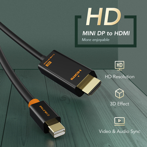 Image 2 - CABLETIME 새로운 도착 2020 Thunderbolt Mini DisplayPort dp DP HDMI 어댑터 HDMI DP 케이블 1080P TV 컴퓨터 MacBook C055