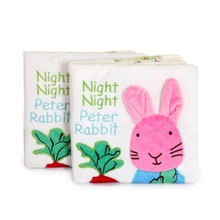 Baby Cloth Cartoon Rabbit Book Toy Early Education Baby  Book Three-dimensional children's Educational Toys Gift