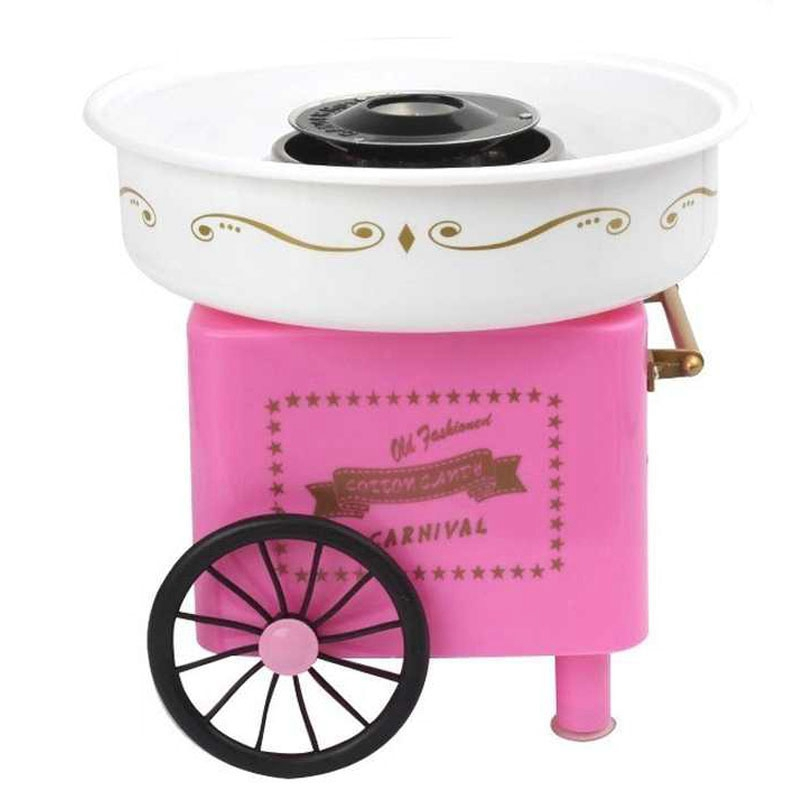 110 220V Mini Sweet Automatic Cotton Candy Machine Household Diy 500W Cotton Candy Maker Sugar Floss Machine For Kids Popcorn Makers     - title=