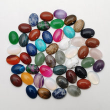 fashion Natural stone mixed Cabochon Oval and Water drop Bead Necklace and ring accessories no hole 50Pcs/lot Free shipping