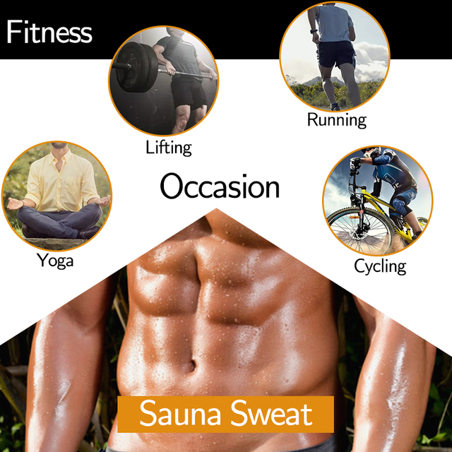 Men Latex Waist Trainer Cincher Sauna Sweat Belt Fitness Weight Loss Fat Burning Body Shaper Tummy Control Girdle Modeling Strap 5