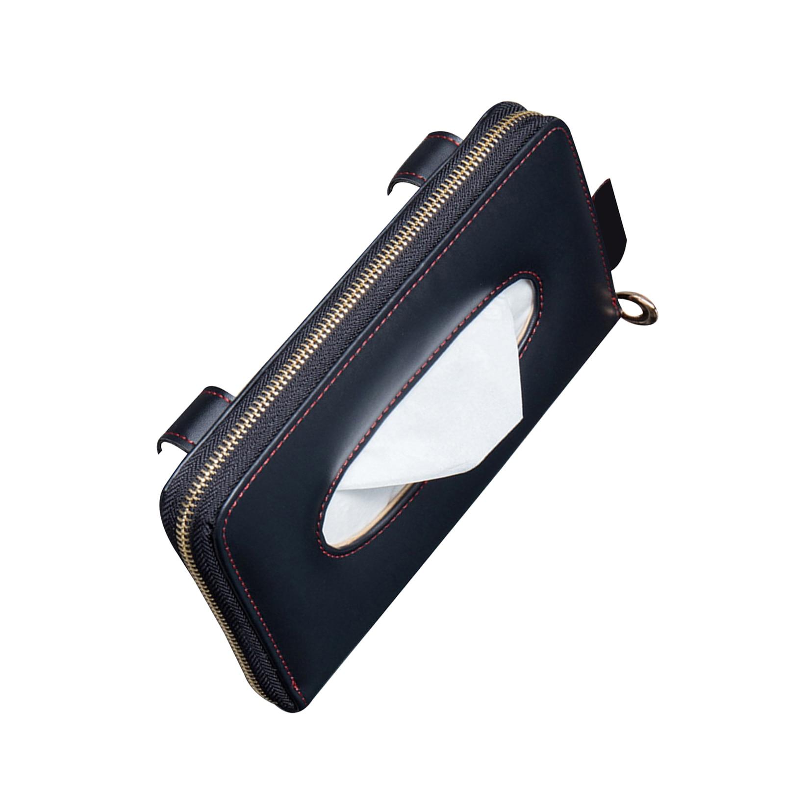 Caixa de tecido do carro teto solar pendurado caixa de papelão criativo sol viseira assento de volta suporte de caixa de tecido