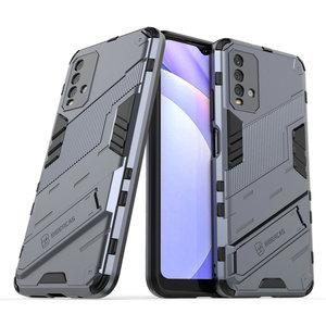 Image 1 - Schokbestendig Case Hybrid Armor Bumper Cool Punk Houder Voor Xiaomi Redmi 9 T Case Redmi Note 9 T 5G premium Cover Redmi 9 T T9